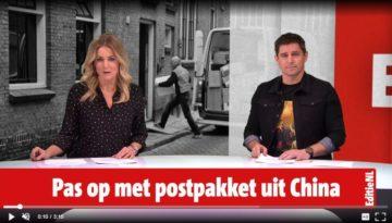 Editie NL: Pas op met postpakket uit China